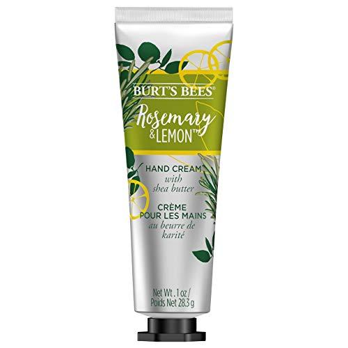 Burt s Bees Hand Cream with Shea Butter, Rosemary Lemon – 1 Ounce Tube Pack of 4
