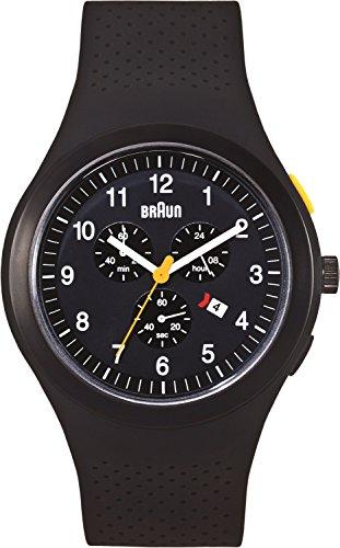 Braun Men's BN0115BKBKBKG Sport Chronograph Analog Display Quartz Black Watch