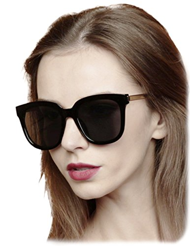 O2 Eyewear 5003 Premium Oversize Womens Mens Mirror Funky Fashion Sunglasses (METAL ARM, GOLD - Oversize Women