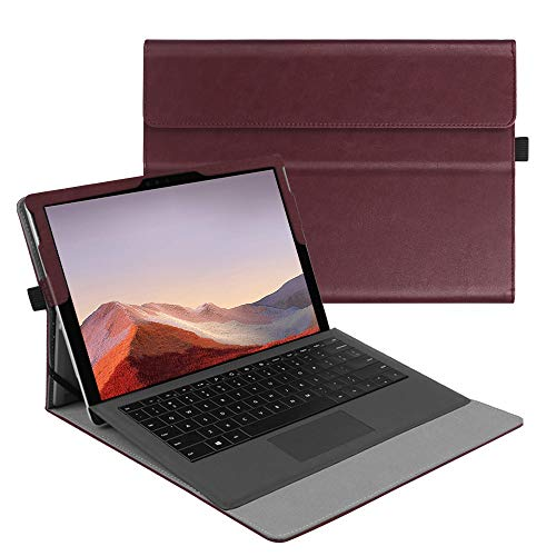 Fintie Case for New Microsoft Surface Pro 7 / Pro 6 / Pro 5 / Pro 4 / Pro 3 12.3 Inch Tablet - Multiple Angle Viewing Portfolio Business Cover, Compatible with Type Cover Keyboard (Burgundy)
