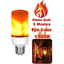 FLAME LED LIGHT SUMMER VIBES! mood setting Light Bulbs E26 Standard Base, 3 Lighting Modes, True Fire Color, Vivid Flame Effect Light Bulbs for Home Low Energy, Bars, Decorations, Simulated Atmosphere