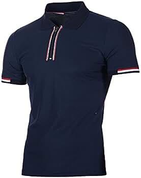VPASS Camiseta para Hombre, Verano Polo Camiseta Deporte Manga ...