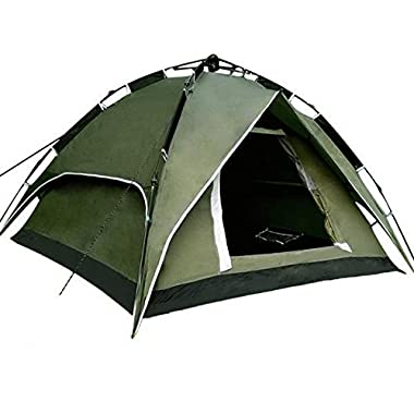 Yaheetech Outdoor Waterproof Automatic 3-4 People Camping Family Tent (Green)