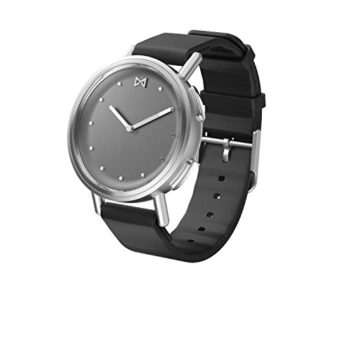 Misfit Wearables MIS5025 Misfit Path Smartwatch in Stainless Steel with Black Sport Strap