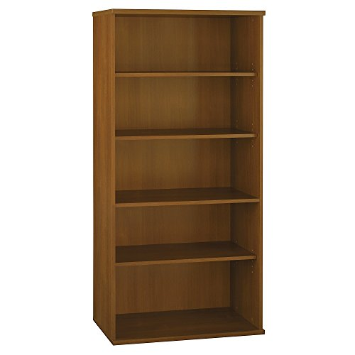 Bush Open Double Bookcases, 35-5/8-Inch by 15-3/8-Inch by 72-7/8-Inch, Warm - Double Wide Bookcase Open