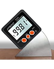 AUTOUTLET 4x90°Digital Magnetic Angle Gage Digital Protractor with LCD Display Mini Level Bevel Gauge Finder Level Box for Woodworking,Table Saw,IP54 Dust and Water Resistant-Precise Measurement Tool