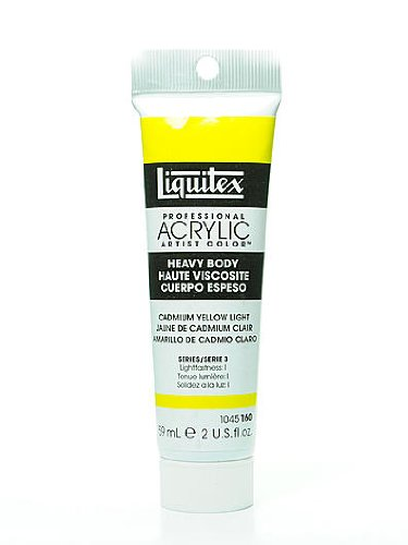 Liquitex Heavy Body Professional Artist Acrylic Colors cadmium yellow light 2 oz. [PACK OF 2 ]
