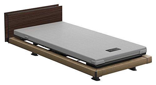 パラマウントベッド 電動ベッド インタイム1000 マットレス付 3モーター ヨーロピアン フットボードあり (グレー) RQ-1336MA+RM-E531 【4梱包】 B076DGPGYP 木目柄(ライト)|ヨーロピアン フットボードあり (グレー) 木目柄(ライト)