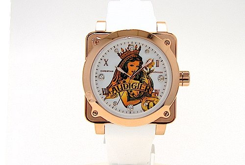 Amazon.com  Christian Audigier FOR-201 Queen of Clubs Watch Fortress ... 95d2e451ce