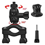GreatCool GoPro Bike Mount Bicycle Mount Motorcycle 360 Degree Rotation Handlebar Seatpost Pole Holder Clamp GoPro Accessories Mount for GoPro Fusion Hero Session 6 5 4 3 2 and Other Action Camera