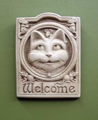 Welcome Cat Wall Plaque -