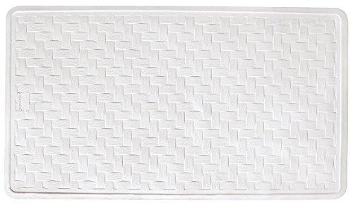 AquaTouch Rubber Safety Bath Mat Large, White 16' x (Ginsey Bath Mat)