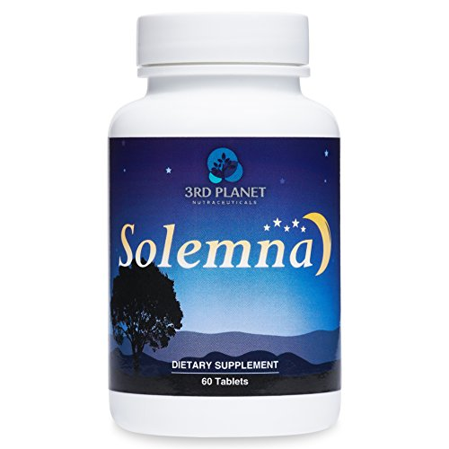 SOLEMNA is a Revolutionary Sleep Aid Containing Magnesium Glycinate, Melatonin, Valerian Root & L-Theanine. It Helps You Fall Asleep and Stay Asleep. (Wellness Nutrition Sleep Aid)