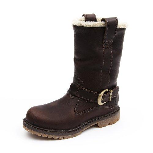 Timberland Nellie Pullo N, Damen Stiefel & Stiefeletten Braun - Dark Brown Leather