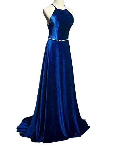 Drehouse Perles Perles De Femmes Dos Ouvert Une Ligne Robes De Bal Robes De Soirée Bleu Royal