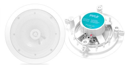 Pyle Home PWRC81 8-Inch Weather Proof 2-Way In-Ceiling/In-Wall Stereo Speakers (Pair) [並行輸入品] B07895JFT7