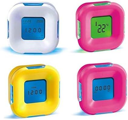 Bweele Reloj Despertador Digital con LED, luz Nocturna Recargable Reloj de Escritorio Premium con Altavoz Radio Reloj Digital Luz para Adultos, niños