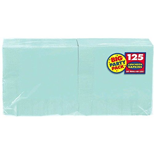 Robin's Egg Blue Luncheon Paper Napkins Big Party Pack, 125 Ct. (Supplies Blue Robin Egg Party)