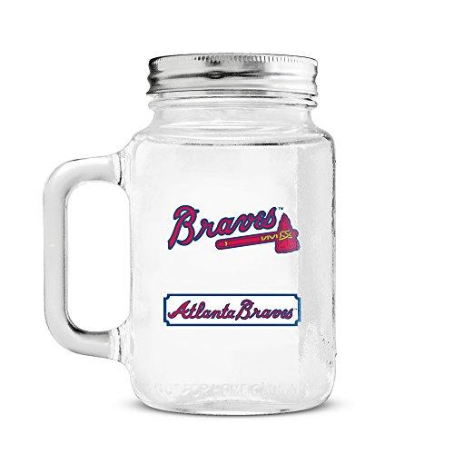 Glass Atlanta Braves - MLB Atlanta Braves 20oz Glass Mason Jar