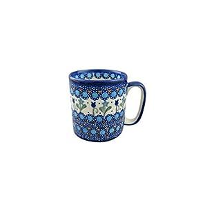 Boleslawiec Style Pottery Hand Painted Polish Ceramic Kubas Mug 055-U-006