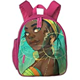 Africa American Girl Double Zipper Waterproof Children Schoolbag With Front Pockets For Teens Boys Girls