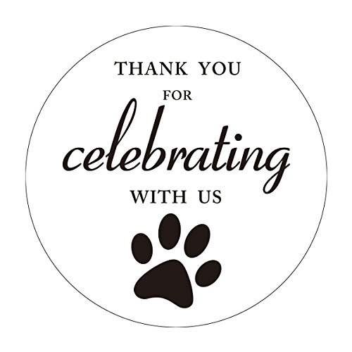 MAGJUCHE Paw Print Thank You Stickers, Dog Cat Animal Paw Baby Shower Birthday Favor Sticker Labels, 2 Inch Round, 40-Pack by MAGJUCHE