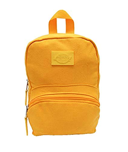 (Dickies Canvas Mini Backpack Mustard Solid & Knit Cap Bundle)