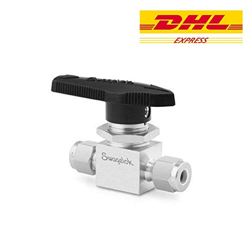 Swagelok SS-42GS4 Stainless Steel 1-Piece 40G Series Ball Valve, 0.6 Cv, 1/4 in. Swagelok Tube Fitting [ Ship by DHL Express ]
