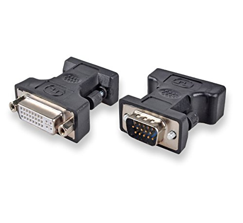 Conwork DVI-I 24+5 Female to VGA HD15 Male Adapter, Gold Plated Connector for Gaming, DVD, Laptop, HDTV and (Dvi Female Analog)