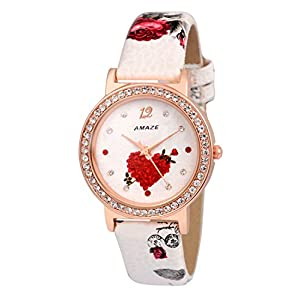 Amaze Analogue White Dial Patent Leather Girl's Watch