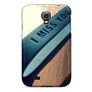 Hot Tpu Cover Case For Galaxy/ S4 Case Cover Skin - Miss U Band
