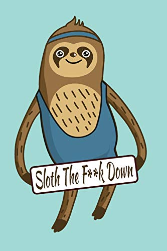 """SKATEBOARDING SLOTH 150 PAGES 6""""X9"""" LINED NOTEBOOK FOR THE AMBITIOUSLY NON AMBITIOUS WRITERS, LIST MAKERS & DRAWERS, WRITE YOUR WAY THROUGH OUR ... EYES DOODLING & WRITING YOUR INSPIRATIONS por Journal Journeys"""