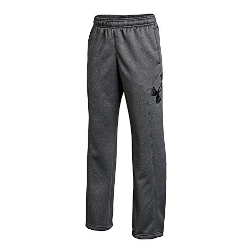 Price comparison product image Under Armour Boys' Storm Armour Fleece Big Logo Pants,  Carbon Heather (090) / Black,  Youth Large