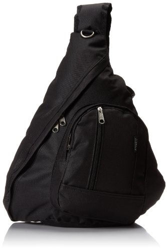Everest Sling Bag, Black, One Size (Everest Bags Backpack)