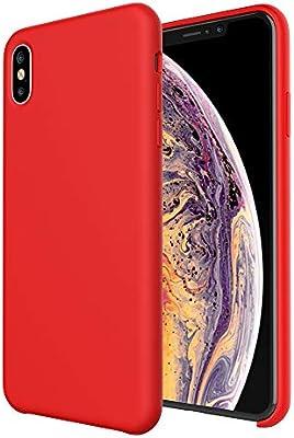 Amazon.com: Carcasa de silicona para Apple iPhone XS Max de ...