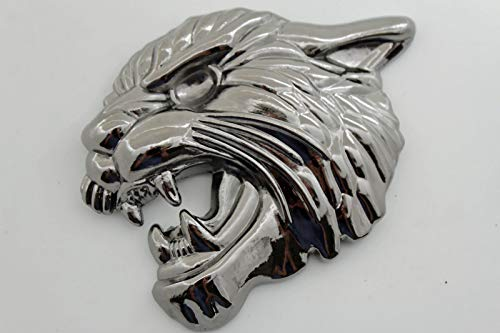 New Men Women Pewter Silver Belt Buckle large Size Tiger Leopard Cat Animal Head