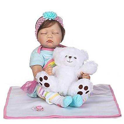 Reborn Muñecas de bebé de Silicona Suave Realista Real Niña ...