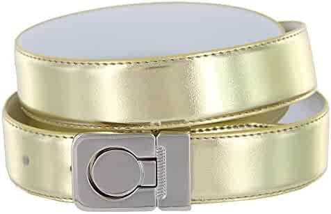 BBBelts Men 1.75 Wide Tough Solid Leather Silver Round Buckle Snap System Belt