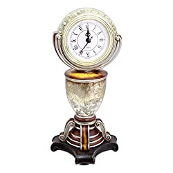DCC Crafts 10.5 x 5 Resin Antique Style Pedestal Table Top Clock