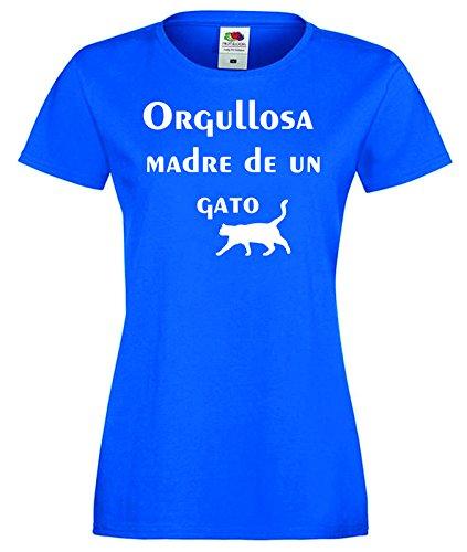 Camisetas divertidas Parent Orgullosa Madre de Un Gato ...