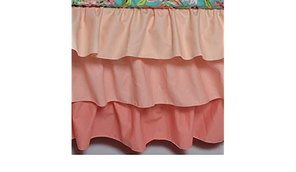 Ombre 3 Tiered Ruffled Crib Skirt Fits Standard Cribs Lavender