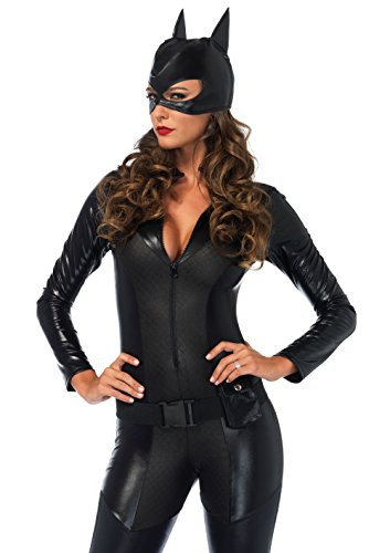 Leg Avenue Women's Sexy Crime Fighter Costume, Black -