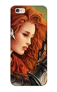 Flyingangela 7ccabdf338 Protective Case For Iphone 6 Plus(women Fantasy Art Armor Artwork Warriors Orange Hair Swords ) - Nice Gift For Lovers