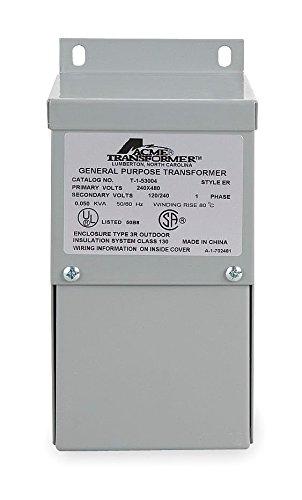 Acme Electric TF279262S Dry Type Distribution Transformer Export Model, 190V/208V/220V/240V x 380V/416V/440V/480V Primary Volts, 120V/240V Secondary Volts, 3 kVA 3 Phase Dry Type Transformer