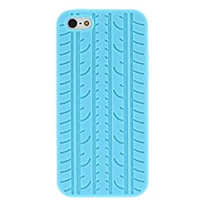 get Tyre Tread Pattern Silicone Soft Case for iPhone 5/5S (Assorted Colors) , Black