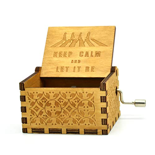 Let It Be Music Box - 18 Note Mechanism Antique Carved Wooden Music Box Crafts (Let it be)
