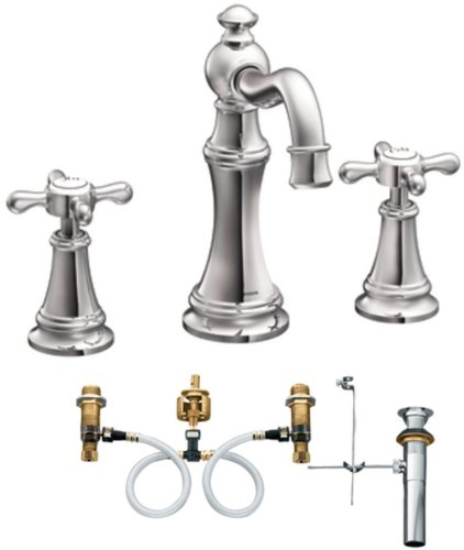 Moen weymouth two handle widespread bathroom sink faucet Amazon bathroom faucets moen