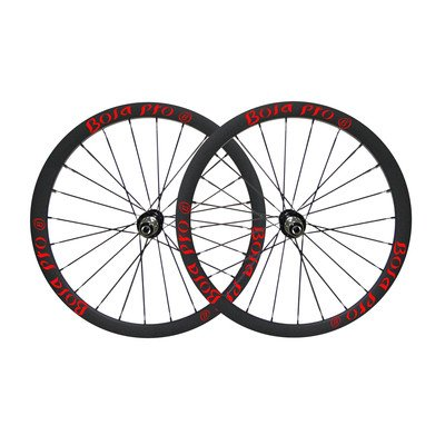(Bola Pro carbon bike wheelset,+/-0.2mm offset,Two Year Warranty,700C 35mm high 25mm wide tubular carbon rim with road disc brake hub and Sapim Cx ray 24/24 spoke for grave)