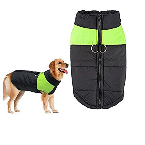 Cheap Winter Dog Coat Vest – Small Waterproof Dog Coat Fleece Lined For Warmth, Chest Protector Puffer Pet Dog Puppy Clothes Vest For Autumn Winter (M (Weight:4.4-7.8lb Back:11.31inch), Green)