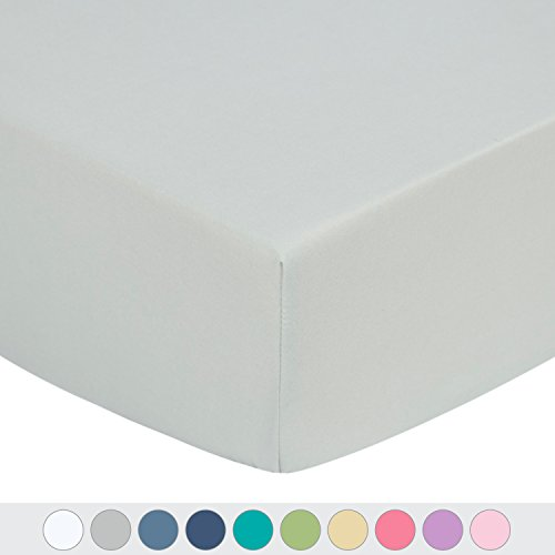Microfiber Fitted Crib Sheet with Elastic, 28